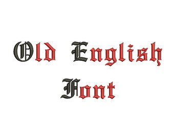 2 Size Old English Font Embroidery Fonts BX Instant Download 9 Formats Embroidery Pattern Machine BX Embroidery Fonts PES