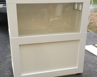 Custom Stackable Reptile Enclosure with Sliding Front Panels and Light Fixture - Payment Plans Available
