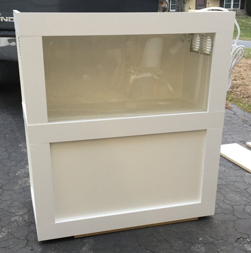 Custom Stackable Reptile Enclosure With Sliding Front Panels