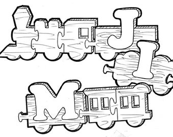Name Train #112 - Woodworking / Craft Patterns.