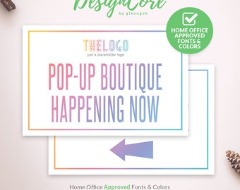 Yard Sign, Home Office Approved, Clean Simple, Pop Up Boutique, Printable, Instant Download, Digital, Banner, Fashion Retailer, DCYS007