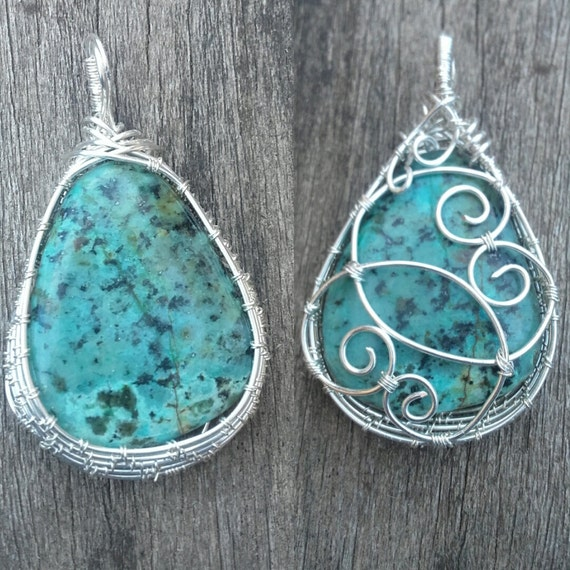 Pendant - Africa Turquoise in Sterling Silver - Turquesa Africana en Plata