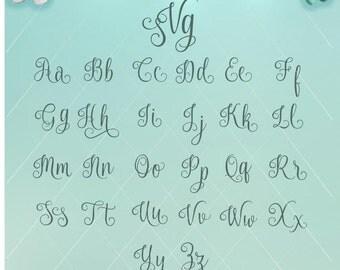 Monogram Letters / Monogram Script / Script Letters / Monogram SVG / Monogram Dxf / Fancy Monogram