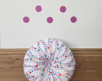 Bunting Patchwork Pouffe Cushion