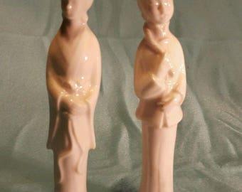 Vintage Japanese porcelain geisha figurines