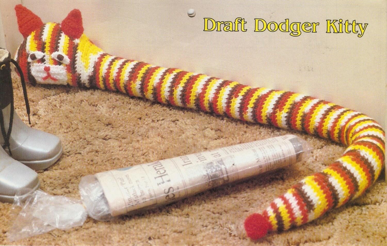 Vintage Draft Dodger Kitty Crochet Pattern From