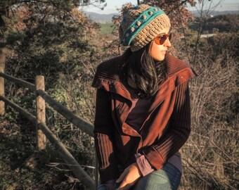 Wool crochet cap