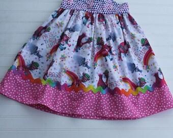 Trolls Crossback Dress baby girls toddler Poppy Branch Birthday Dress