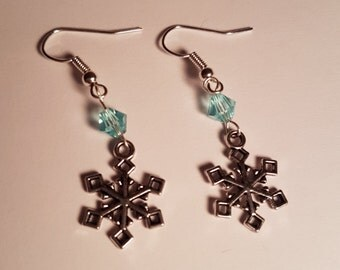 Earrings blue snow