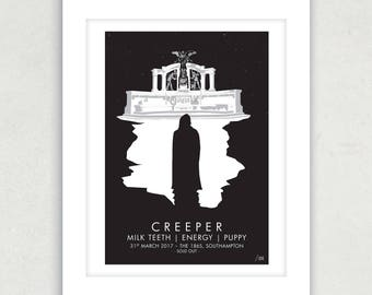 Creeper Live at The 1865, Southampton - Hand Screened  - 45cm x 32cm - Limited run of 100 and numbered