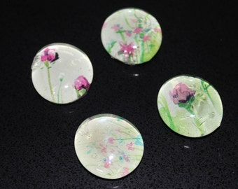 Glass Magnets: Flowers in the Wind