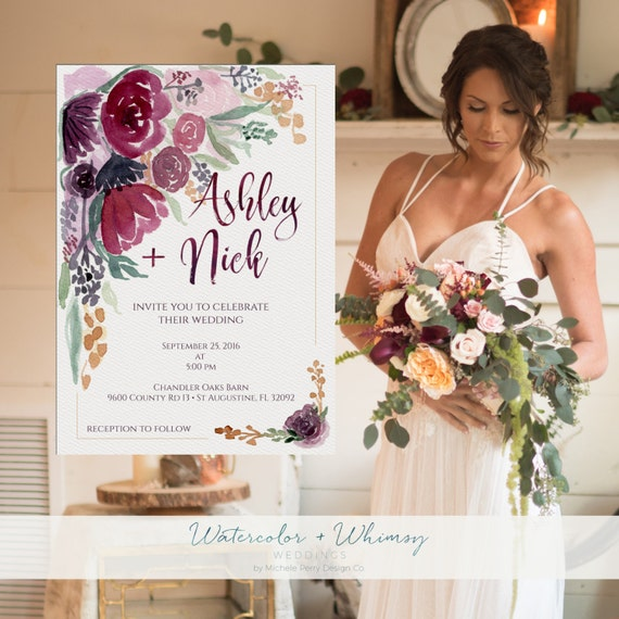 Bespoke Wedding Stationery Design Services | Printable Wedding Invitations, Custom Wedding Stationery