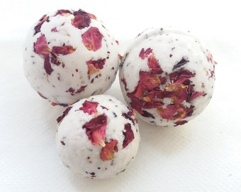 Rose petal bath bomb Gift Set In A Box