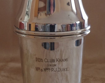 extremly rare Cocktail Shaker - P. J. Duke - Martini Shaker - Barware - Design - Gaelic football - Harrods Yeomann