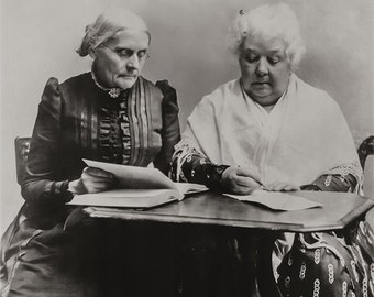 Suffragettes Portrait Photo, Susan B. Anthony and Elizabeth Cady Stanton, Womens Rights, Voting Rights, Womens Justice, Equal Pay Photograph