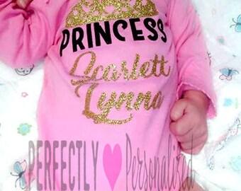 Personalized Princess shirt, personalized girl shirt