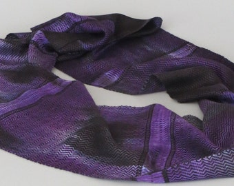 Handwoven Hand dyed Infinity Scarf
