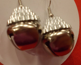 Large jingle bell earrings