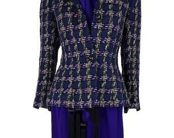 HARDY AMIES Vintage Purple Jacket Dress Scarf Set (10)