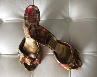 Hollywood Satin Heels 1940's or 50's