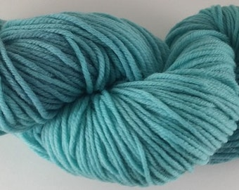 Faded Teal  - 100% Superwash Merino Wool SW Hand Dyed Worsted Weight Yarn