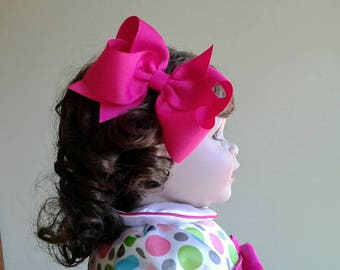 Large Bowtique Twist Perky 4 Hair Bow of your color choice
