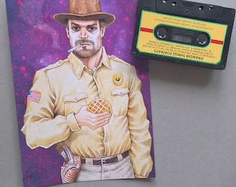 JIM HOPPER - Stranger Things Portrait Print