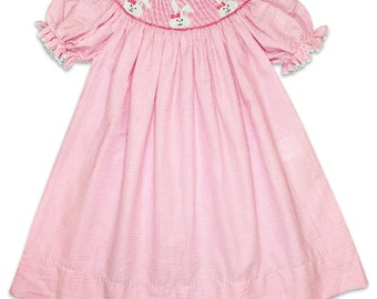 Bunnies Pink Bishop Dress