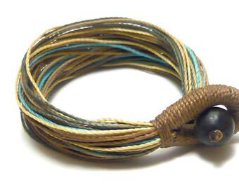 MatifDesign funky handmade boho  bracelet multi waxed threads