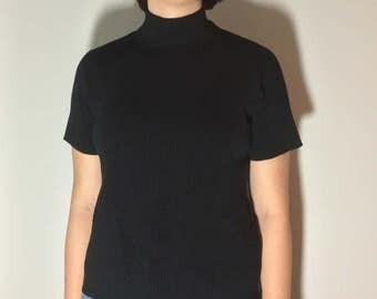 Black Turtleneck - Vintage clothing