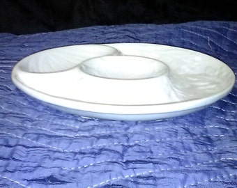 Vintage , Ceramic Sectional, Divided Appetizer Plate