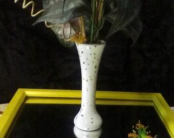 1960's, Pottery Splatter Paint Vase