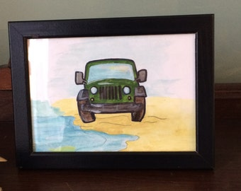 Jeep At The Beach
