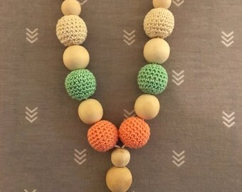 Wooden Nursing/Teething Necklace