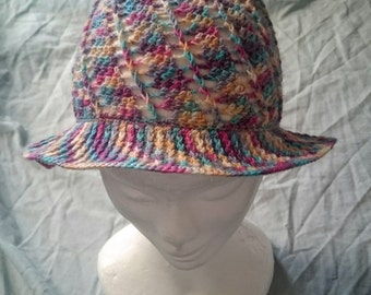 Child's crochet panama hat (made to order)