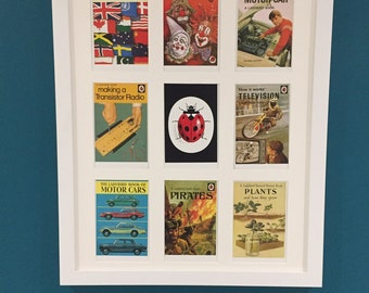9 Framed Ladybird Book Titles