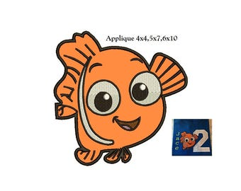 Nemo Applique Design - 3 sizes instant download - finding nemo applique