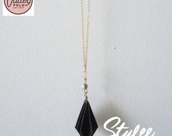 Dewdop Origami Necklace