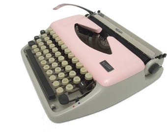 Pink Typewriter - Working Perfectly - Fully Serviced - Triumph Tippa - Custom Painted - Vintage Typewriter