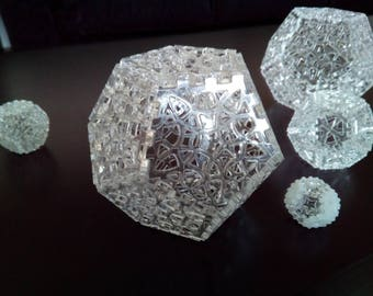 MOD. 05-Dodecahedron interlocking laser-cut plexiglass.