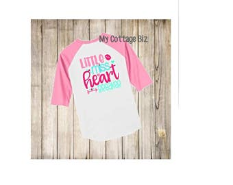 Little Miss Heartbreaker - Choose Raglan, Short Sleeve, or Long Sleeve