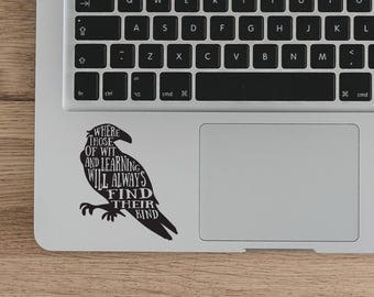 Harry Potter laptop decal, Ravenclaw Quote Vinyl Sticker, Ravenclaw Sticker Vinyl decal, Witchcraf Laptop Decal Vinyl Sticker DIY quote