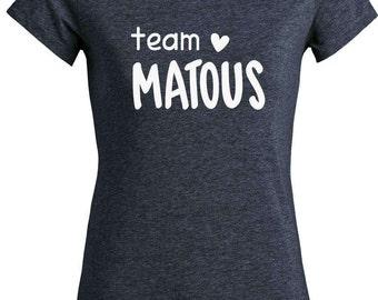 "T-shirt cotton woman bio ""Team TOMCATS"", vegan tshirt"