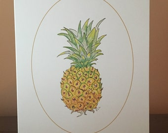 note cards:  pineapple - welcome from virginia