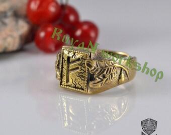 Viking Runes ring. Viking Rune. Elder Futhark. Rune ring. Rune jewelry. viking jewelry. viking bronze