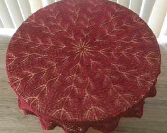 Round lace knitted tablecloth (doily )33in