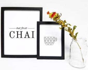 But First Chai  Printable