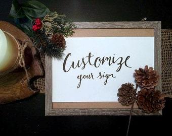 Customize a sign