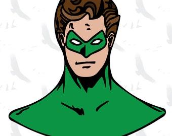 Green Lantern inspired clip art