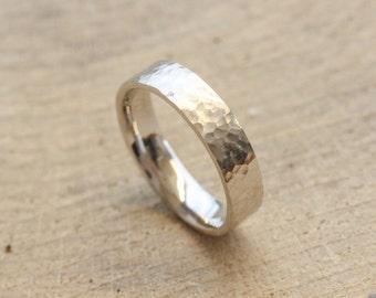 Rustic Palladium Wedding Ring for him